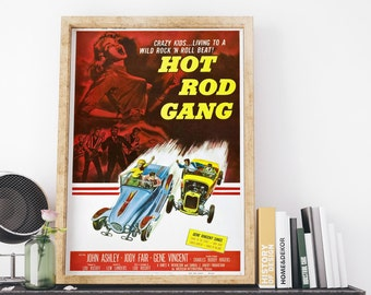 Hot Rod Gang Vintage USA Movie Poster Art Print