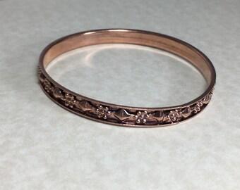 Copper bangle bracelet, vintage bangle