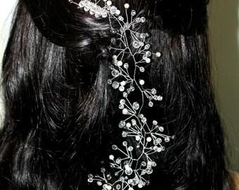 Rose gold comb Bridal Hairpiece wedding vine Wedding Wreath Bridal Crystals Wreath Bridal Hair Vine Hairpiece Vine Bridal Wedding Headband