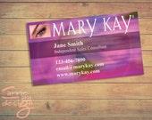 Mary Kay Business Cards, printable, pink, custom, make-up