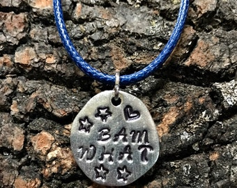 BAM WHAT Stamped Charm Necklace