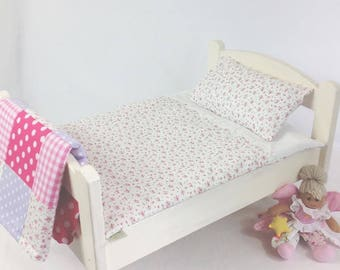 White Rose Dolls Bedding Set