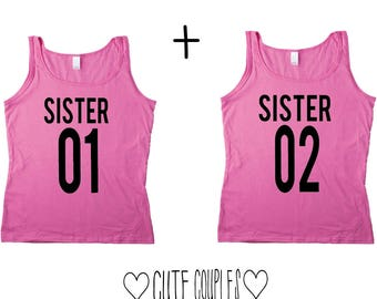 Sisters Couple Top - Couple Shirt,Summer,Couple Sweater,Schwestern,SisterFriends,Best Friends,Gift,Gang,Couple Clothing,