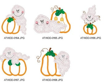 Ghost-Pumpkins ( 5 Machine Embroidery Designs from ATW ) XYZ17B