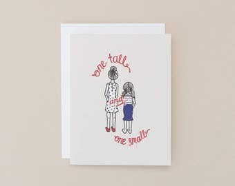 Best Friend card – One Tall & One Small