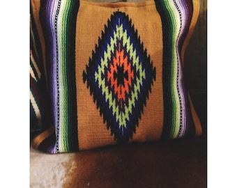 Aztec Saddle Rug Throw Pillow