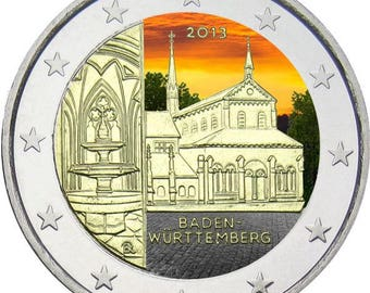 2 Euro, Colorized, Baden-Württemberg, Germany 2013