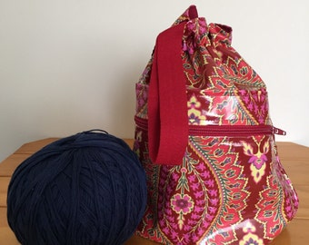 Project Bag - Laminated Imperial Paisley
