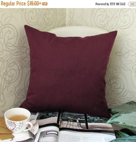 Bordeaux Pillow Cover Burgundy Pillow by ModernHouseBoutique