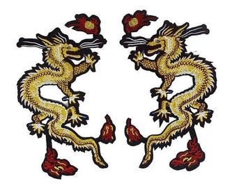 a pair back patch Dragon patch large patch embroidered patch iron on patch embroidery patch sew on patch iron on patches