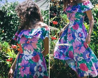 Garden Party Dress - Floral Cotton