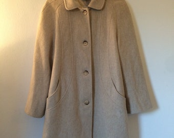 Woollen oversized coat