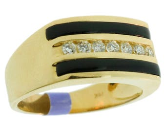 0.30 CT. Channel Set Diamond Ring in 14K Yellow Gold