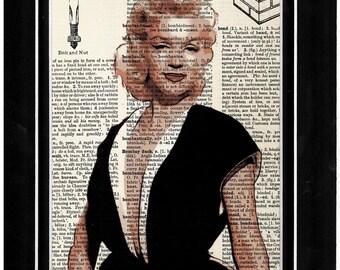 Mariyln Monroe vintage dictionary paper/art print/old Hollywood/golden era/ tinsle town 261