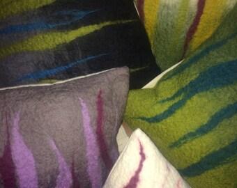 Decorative felted cushions