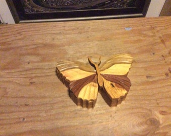 Butterfly wood jewelry box