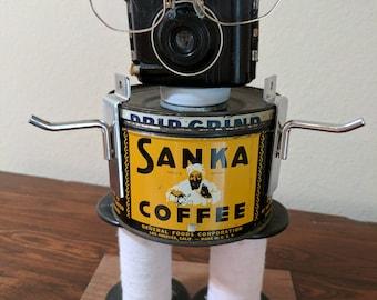 """Meet:""""Paul Sanka"""" Found Object Art Assemblage Robot"""