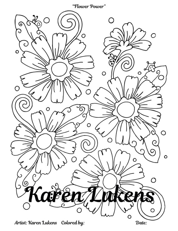 flower power coloring pages - photo#29