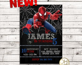 Spiderman invitation etsy spiderman birthday invitation spiderman invitation spiderman birthday spiderman invite spiderman party solutioingenieria Gallery