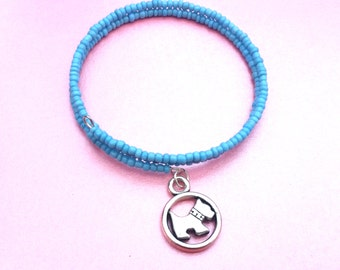 SALE, Blue Westie bracelet, blue Scottie Dog bracelet, Dog jewellery, Doggy Christmas, dog lover gift, Westie gifts
