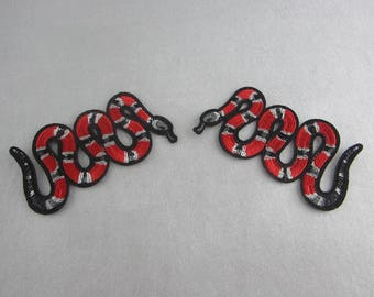 Iron On Patches, Snake Appliques
