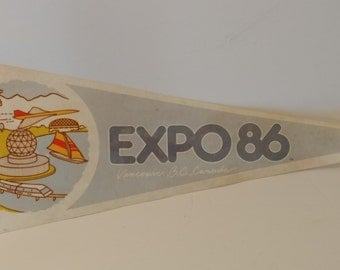 Expo 86, Vancouver, British Columbia, Canada - Vintage Pennant