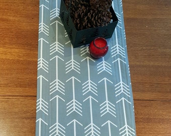 Arrow Gray Quilted Table Runner - Free Shipping!