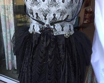 Steampunk wrap octopus dress - cosplay - bohemian pattern size 16 costume