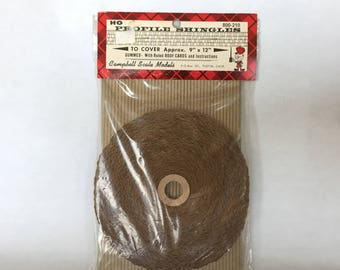 profile shingles Campbell Scale Models ruled roof cards model making trains miniatures HO scale supplies vintage roof shingles doll house
