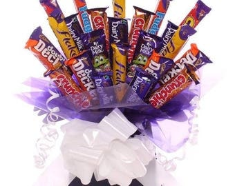 Chocolate bouquet, Cadbury's Chocolate Bouquet, Bargain Chocolate Bouquet, Birthday Gift idea, Chocolate Gift, Get Well Gift
