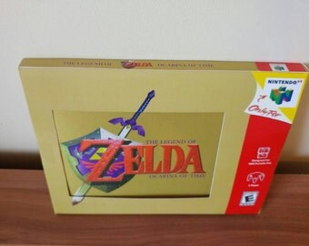 Zelda Ocarina of Time Mousepad! N64.  With great custom box. NTSC. Others available.