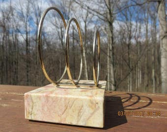 Vintage Marble Letter Holder - Desk Organizer-Mid Century Office