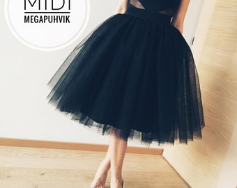 Black tulle skirt!