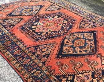 8 x 10.4 | Antique Persian Sarouk | NEMO