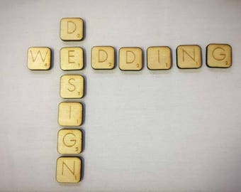 Laser Cut Plywood Scrabble Letters