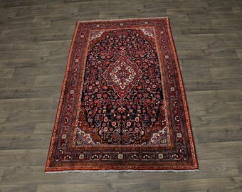 Excellent Floral Handmade Vintage Gholtogh Persian Rug Oriental Area Carpet 4X7