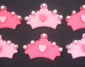 24 edible TIARA cupcake toppers. CROWN  cake decorations. Girls birthday. Princess party.