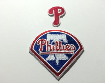2 Philadelphia Phillies embroidered iron patches