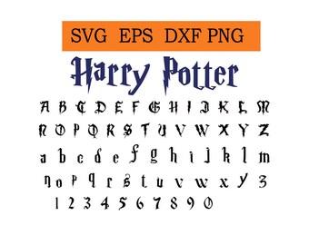 Harry Potter Font Svg / Eps / Dxf / Jpg files INSTANT DOWNLOAD!