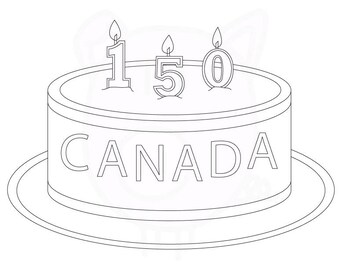 Happy Birthday Celebrate Canada's 150th Anniversary with colour