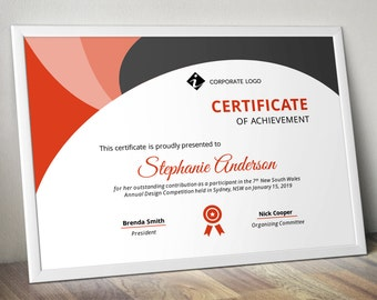 Big bar corporate business certificate template for ms word modern colourful triangle corporate business certificate template for ms powerpoint pptx yadclub Gallery