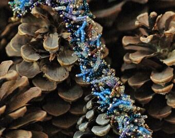 Beaded Fringe Bracelet - Blue