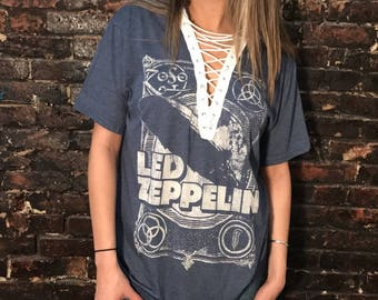 Led Zeppelin Lace-Up Tee