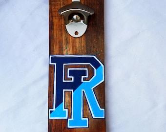 University of Rhode Island ( Rhody Rams) Hand Painted Bottle Opener
