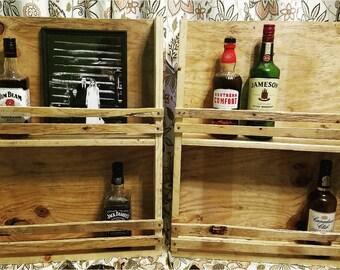 Set of 2 - Liquor/Wine Cabinet