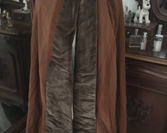 French Antique Velours and Wool Cape Cloak From A Theatre Wardrobe in Paris / Once Owned by A Carmelite / Theatre Film Prop