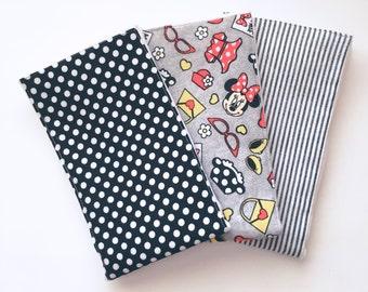 Minnie Mouse burp cloth trio