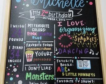 Custom birthday board