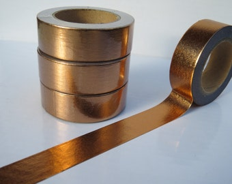 Copper / Rose Gold Foil Washi Tape - Lovely Solid Copper Foil Deco Tape