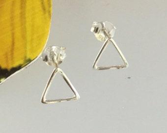 triangle studs /triangle stud earrings /sterling studs/sterling silver/studs/ sterling triangles/studs/triangle earrings